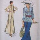 Vintage 70s Vogue 8858 A-Line Bell Sleeve Top Maxi Dress Pattern Uncut Size 8