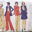Vintage 70s Vogue 8474 Safari Jacket Skirt Pants Suit Pattern Uncut Size 14