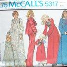 Vintage McCall's 5317 Robe Bolero Jacket Nightgown and Pajamas Pattern Uncut
