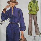 Vintage 70's Vogue 9074 Standing Collar Front Zip Dress or Tunic Pattern Wide Leg Pants Uncut