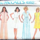 Vintage 70's McCall's 4992 Button Front Maxi Dress or Skirt Jacket Pattern Uncut Size 12