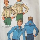 Vintage 70's Simplicity 7465 Yoked Shirt Pattern With Embroidery and Appliqué Uncut Size 38-40
