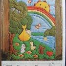 Vintage 1980 Gingham Goose Rock A Bye Rainbow Baby Quilt Nursery Décor Uncut