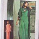 Vintage 70s Simplicity 7211 Batwing Maxi Dress Top and Wide Leg Pants Pattern Uncut