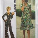 Vintage 70s Simplicity 7295 Wrap Front Top Skirt Pant Suit Pattern Uncut Size 12