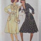 Vintage 70's Simplicity 7311 Shirt and Back Wrap Skirt Dress Pattern Uncut Size 12