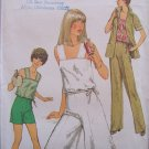 Vintage 70's Simplicity 8522 Summer Top Culottes and Jacket Pants Shorts Pattern Uncut Size