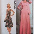 Vintage 70's Simplicity 7793 Sleeveless Empire Waist Maxi Evening Dress and Jacket Pattern Uncut