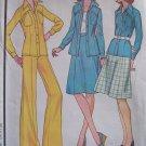 Vintage 70s McCall's 4586 Skirt Yoked Shirt Jacket and Pants Pattern Uncut Size 12