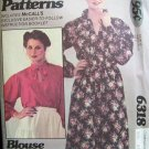 Retro 70s McCall's 6318 Raglan Sleeve Dress or Blouse Pattern Uncut Size 8-12
