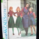 Vintage 70s McCall's 5774 Back Wrap Jumper or Skirt Pattern Uncut Size 12