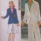Vintage 70s Simplicity 5454 Princess Seam Jacket Skirt Pants Pattern Uncut Size 12