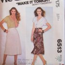 Vintage 70s McCall's 6513 Wrap Skirt Pattern Uncut Size 10-12