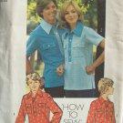 Vintage 70s Simplicity 6249 Women's Pullover Bowling Shirt Pattern Uncut Size 10