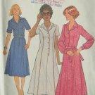 Vintage 1970's Simplicity 8255 Princess Seamed Shirt Dress Pattern Uncut Size 12