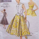 Vogue 2561 Vintage Model 1950's Full Skirt Sundress Sleeveless Top Belt Pattern Uncut