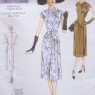 Vogue 2787 Vintage Model 40's Shaped Bodice Dress Pattern Uncut Size 6-10 Cap Sleeve
