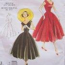 Vogue 1172 Vintage Model 1950's V-Neck Princess Seam Party Dress Pattern Uncut Size 6-12
