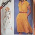 Retro 80's Simplicity 5123 Shirtdress Pattern Short Sleeve Uncut Size 18 ½