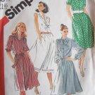 Retro 80s Simplicity Shirtdress Pattern Sleeve Variations Uncut Size 18 ½