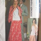 Vintage 70s Simplicity 8083 Evening Skirt Blouse Shirt Jacket Pattern Uncut Size 12