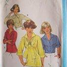 Vintage 70s Simplicity 8209 Tunic Blouse Pattern Front Button Uncut Size 12