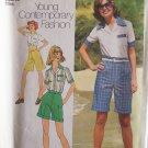 Simplicity 6967 Pantskirt Bermuda Shorts Shirt Pattern Uncut Size 14 Vintage 70's