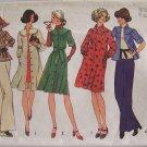 Vintage 70s Simplicity 7050 Raglan Sleeve Coat Dress or Top Pattern Uncut Size 12-14