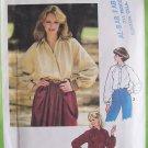 Vintage 70s Simplicity 8704 Raglan Sleeve Front Button Tunic Top Pattern Uncut Size 12