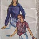 Retro Butterick 6953 Round Neck Raglan Sleeve Blouse Pattern Uncut Size 8-12