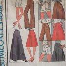 Vintage 1975 McCall's 4849 Evening Skirt Shorts Wide Leg Pants Pattern Uncut 28 Waist