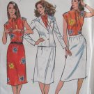 Vintage Butterick 6991 Summer Jacket Skirt and Blouse Pattern Uncut Rena Rowan Jones New York