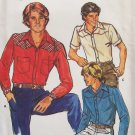 Retro 80's Butterick 3114 Boys Yoked Western Shirt Pattern Long or Short Sleeve Uncut Size 14
