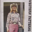 Vintage Authentic Patterns 272 Curved Yoke Western Shirt Pattern Uncut Ladies Size 12
