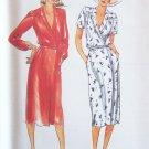 Vintage Butterick 6964 Low Neckline Wrap Dress and Belt Sewing Pattern Uncut Size 12