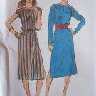Vintage Butterick 6963 Long or Sleeveless Oval Neck Dress Pattern Uncut Size12