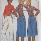 Vintage Butterick 5191 Straight Leg Pants and Jean Skirt Pattern Uncut Size 26 ½
