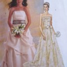 McCall's 5807 Two Piece Strapless Bridal Gown Flared Skirt Pattern Pick Ups Uncut Size 14-20