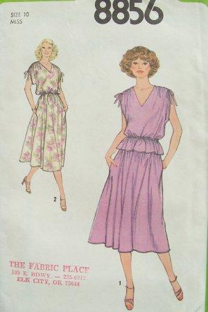 Vintage 70s Simplicity 8856 Two Piece Summer Dress Pattern Uncut Size 10