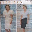Butterick 5697 Leslie Fay Evening Dress Pattern Uncut Size 12-16 Dropped Waist Short Sleeve