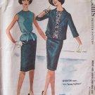 Vintage 60s McCall's 5936 Dress Suit Box Jacket Blouse Slim Skirt Pattern Size 12