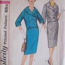 Vintage 60s Simplicity 3826 Suit Dress Box jacket Slim Skirt Sewing Pattern Size 12