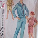 Vintage 50s Simplicity 2775 Pajama Top Pants or Short Pattern Size 14 Bust 34