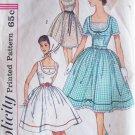 Vintage 60s Simplicity 3918 Full Skirt Sleeveless Dress Pattern Size 13 Bust 33