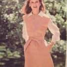 Vintage70s Butterick 5842 A-Line Jumper Dress Pattern Yoke Front Uncut Size 12 See and Sew