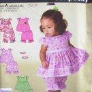 Simplicity 2982 Baby Girl's Summer Top Pantaloons and Headband Pattern Uncut Size XXS-L