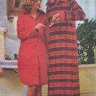 Vintage Butterick 4502 Ladies Long Sleeve Nightshirt Pattern Uncut Size Small 8-10