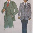 Vintage 70s Simplicity 8493 Men's Vest Suit Jacket and Pants Pattern Uncut Size 38