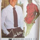 Vintage McCall's 5741 Men's Dress Shirt Pattern Front Button John Weitz Uncut Size 36-40