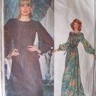 Vintage 70's Vogue 1122 Emanuel Ungaro Paris Original Evening Maxi Dress Pattern Size 14 Bust 36